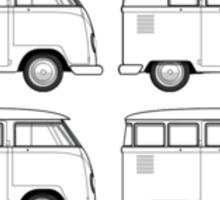 VW Type 2 Split Window Line Up Sticker