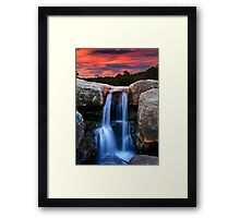 Sunset Cascade Framed Print
