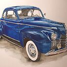 watercolour-1940 Olds by Carlos Solorza