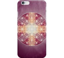 flower of life magenta iPhone Case/Skin