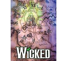 Wicked the musical OZ map Photographic Print