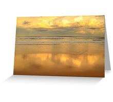 Golden Mirror - Warriewood Beach - The HDR Series Greeting Card