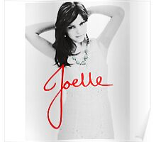 Joelle Black & White Blue Necklace Logo Version Poster