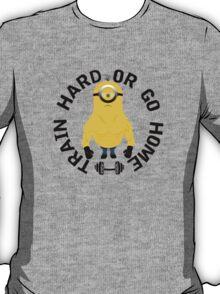 Minion Muscle Train Hard Gym T-Shirt