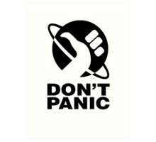 Don't Panic - Hitchhikers Guide Art Print