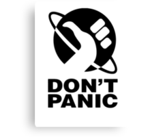 Don't Panic - Hitchhikers Guide Canvas Print