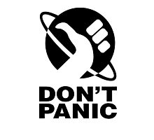 Don't Panic - Hitchhikers Guide Photographic Print