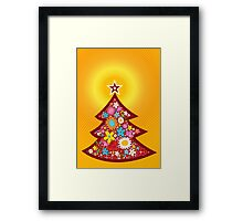 Spring Flowers Christmas Tree Framed Print