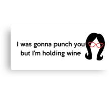 Holding Wine Canvas Print
