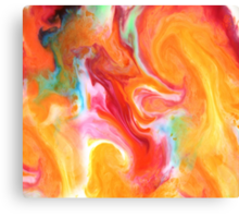 Smudge Paint Abstract #1 Canvas Print