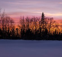 Sunset Down East Maine by TKPhotos