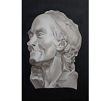 Voltaire Bust Painting Photographic Print