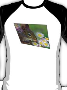 Flowers and Squirrel T-Shirt