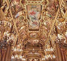 Grand Foyer at the Paris Garnier Opera House by lazyjane1977