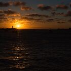 Sunset, Fremantle Harbor, W.A. by Sandra Chung