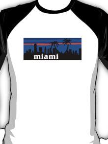 Miami palm trees, skyline silhouette T-Shirt