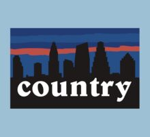 Country music. Austin skyline silhouette Kids Clothes