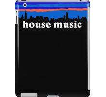 House music, Chicago skyline silhouette iPad Case/Skin