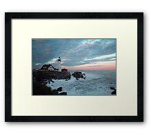 Sentinal at Sunset,367 Views! Framed Print