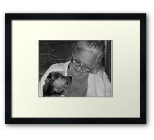 Candid Shot Of Rosie Black And White Framed Print