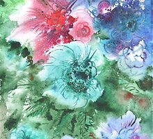 watercolor flowers by EkaterinaP