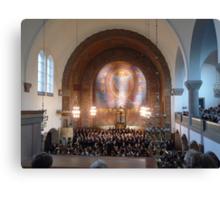 Neo Romanesque and Art Nouveaux Church Canvas Print