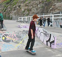 Enjoying Newcastle Skatepark by smithrankenART