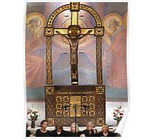 Crucifix in Art Nouveaux Poster