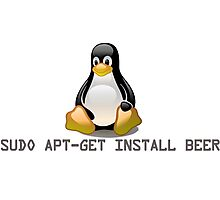 Linux - Get Install Beer Photographic Print