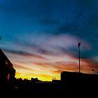 Sunset, CN Cargo Yard by Dan McKechnie