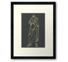 greek statue of a headless man Framed Print