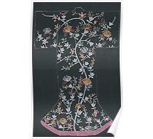 black floral kimono Poster