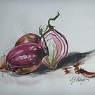Red Onions - Still Life by  Linda Callaghan