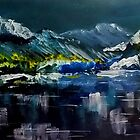 Canadian Rockies Acrylic painting by Sandra  Sengstock-Miller