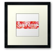 Supreme kitty tee Framed Print