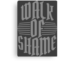 Walk of shame Canvas Print