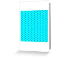 Icy Aqua and Blue Snowflake Pattern Greeting Card