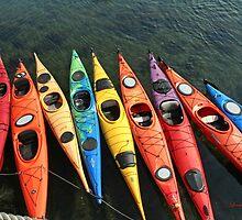 Colorful Kayaks by Linda Jackson