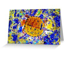 Toddler Turtle Gold Greeting Card