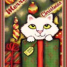 Vintage Style Christmas Gift Kitten by Jamiecreates1