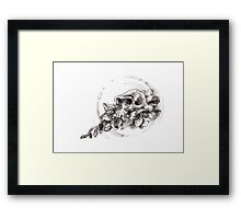 Lucy with Freesias Framed Print