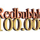 Redbubble 100.000 logo by Peter Hardy