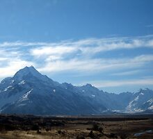 Mount Cook and Tasman Glacier by Cheryl Parkes
