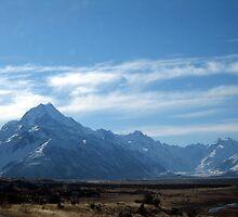 Mount Cook and Tasman Glacier by Cheryl Parkes