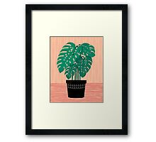 Cheese Plant - Trendy Hipster art for dorm decor, home decor, ferns, foliage, plants Framed Print