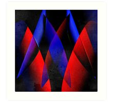 Midnight geometry two Art Print