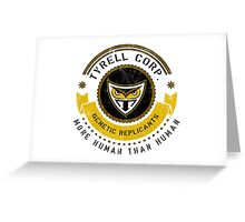 Tyrell Corporation Crest Greeting Card