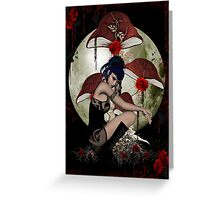 Dark Lady of the Roses Greeting Card