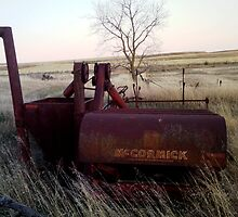 Old harvester  by maragoldlady