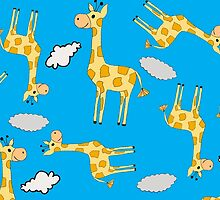 giraffes in the clouds  by Lindseyclare
